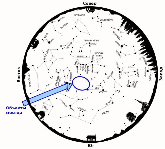 spring star map