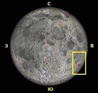 Место положения Петавия на Луне