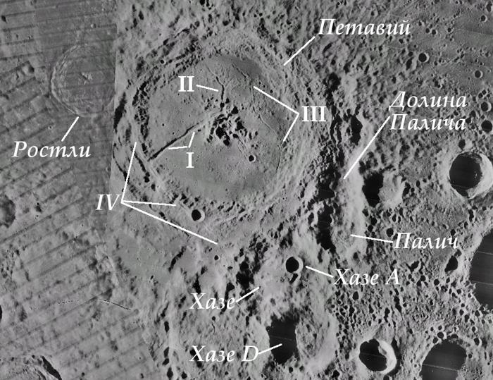 Карта кратера Петавий